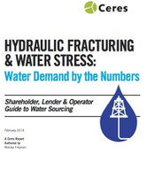 Hydraulic Fracturing & Water Stress: Water Demand by the Numbers