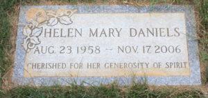 Gravestone of Helen Daniels